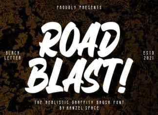 Road Blast Brush Font