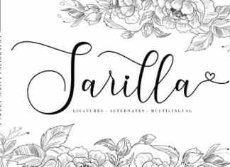 Sarilla Calligraphy Font