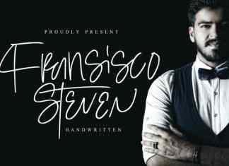 Steven Fransisco Handwritten Font