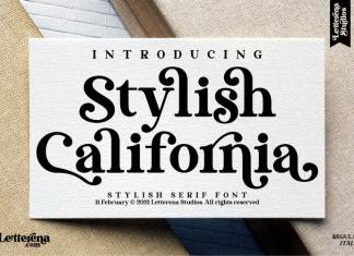 Stylish California Serif Font