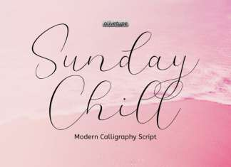 Sunday Chill Script Font
