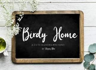 Birdy Home Script Font