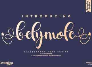Belymole Calligraphy Font