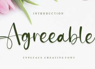 Agreeable Calligraphy Font