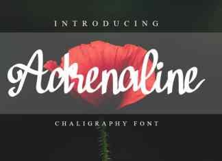 Adrenaline Brush Font