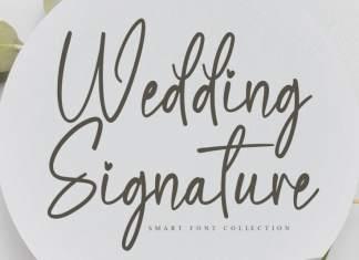 Wedding Signature Script Font