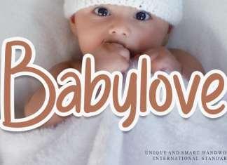 Babylove Display Font