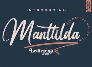 Manttilda Brush Font