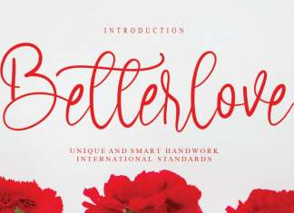 Betterlove Calligraphy Font