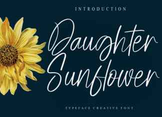 Daughter Sunflower Script Font