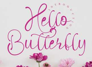 Hello Butterfly Calligraphy Font
