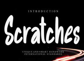 Scratches Display Font