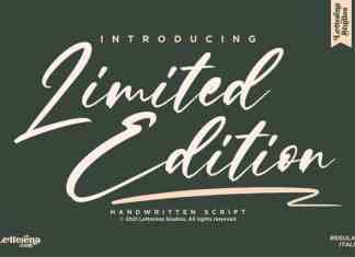 Limited Edition Script Font