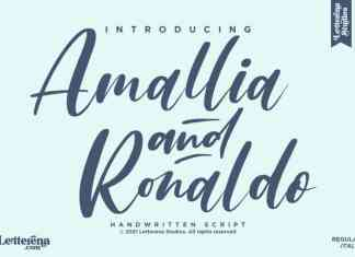 Amallia and Ronaldo Script Font