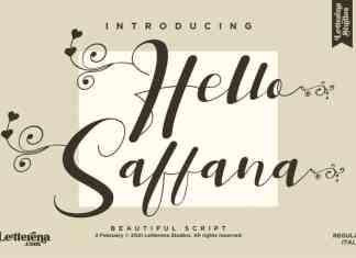 Hello Saffana Calligraphy Font