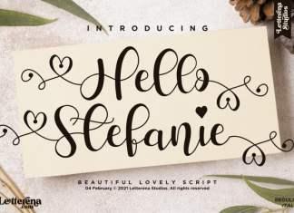Hello Stefanie Calligraphy Font