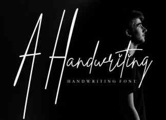 A Handwriting Script Font
