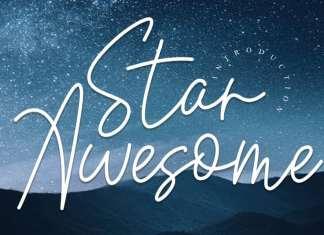 Star Awesome Handwritten Font