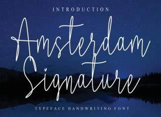 Amsterdam Signature Script Font