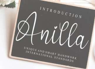 Anilla Script Font