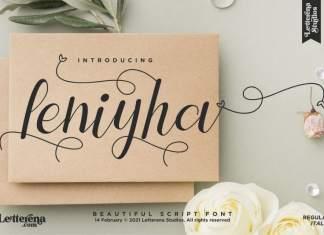 Leniyha Script Font