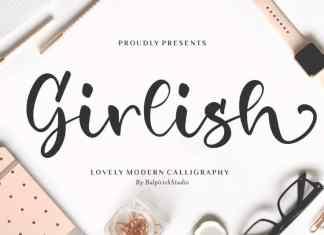 Girlish Lovely Calligraphy Font