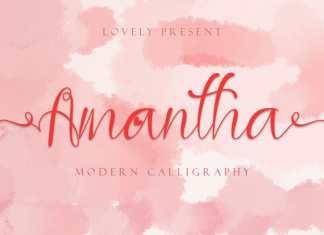 Amantha Calligraphy Font