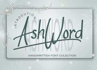 AshWord Script Font