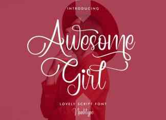 Awesome Girl Calligraphy Font