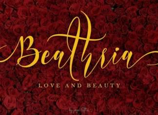 Beathria Calligraphy Font