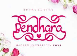 Bendhara Script Font