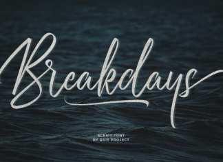 Breakdays Script Font