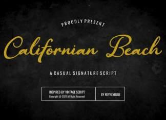 Californian Beach Script Font