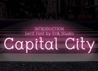 Capital City Display Font