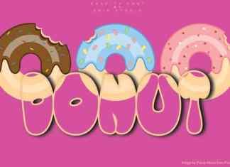 Donut Display Font