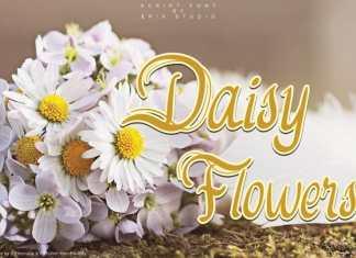 Daisy Flowers Script Font