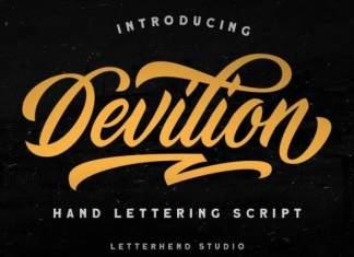 Devilion Bold Script Font