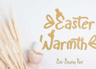 Easter Warmth Display Font