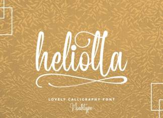 Heliolla Calligraphy Font