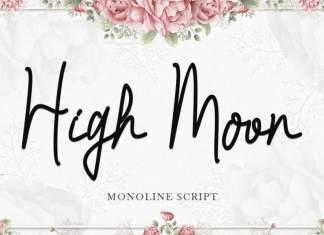 High Moon Handwritten Font
