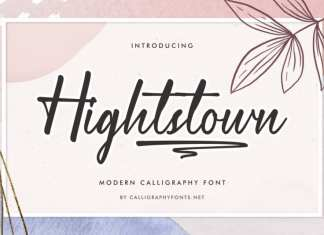 Hightstown Calligraphy Font