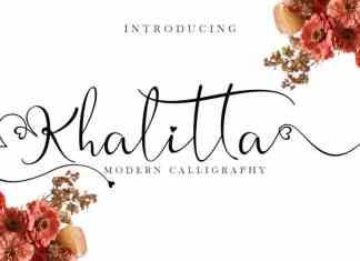 Khalitta Calligraphy Font