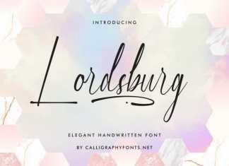 Lordsburg Handwriting Font