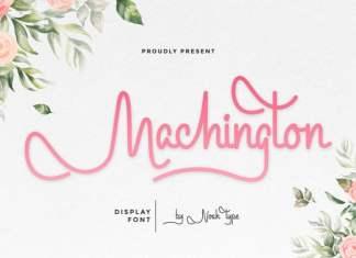 Machington Script Font