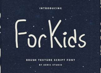 For Kids Display Font