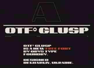 OTF Glusp Display Font