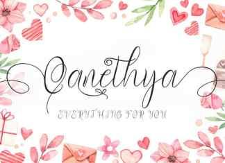 Qanethya Calligraphy Font