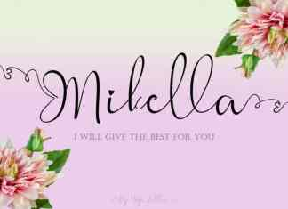 Mikella ,Calligraphy Font