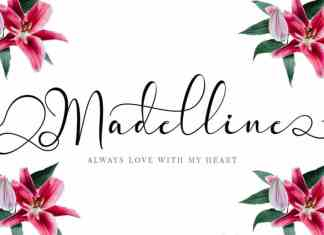 Madelline Calligraphy Font