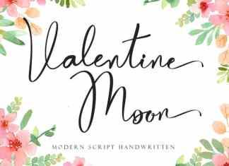 Valentine Moon Calligraphy Font